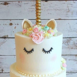 The cutest buttercream Unicorn Cake Tutorial by My Cake School! Online Cake Classes & Recipes!