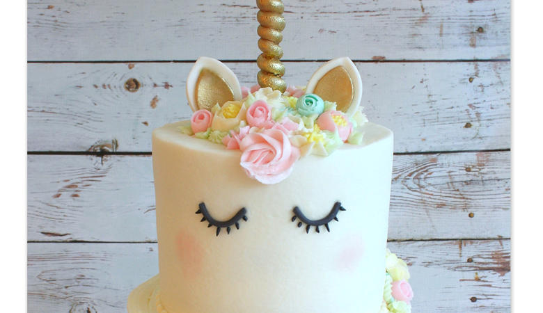 Unicorn Cake- A Cake Decorating Video Tutorial