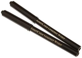 We love to use these Black Americolor Gourmet Food Writer Pens for our fondant and gum paste decorations. MyCakeSchool.com.