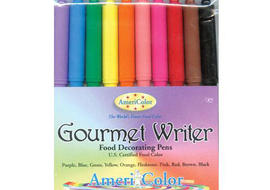 We love to use these colorful Americolor Gourmet Food Writer Pens on our Fondant and Gum Paste decorations