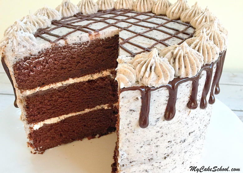 Delicious Oreo Cake Recipe from Scratch! Recipe by MyCakeSchool.com. Online cake tutorials, recipes, videos, and more!