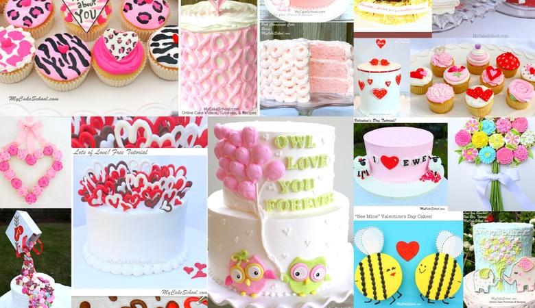 Favorite Valentine's Day Cake Tutorials and Recipes