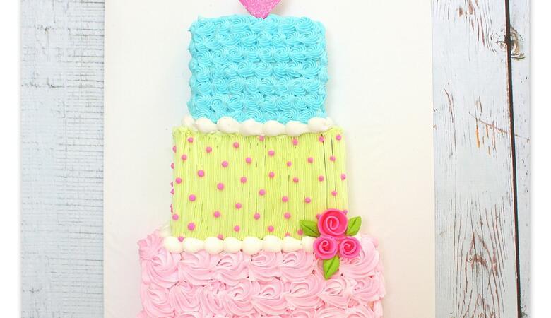 Tiered Sheet Cake- Free Cake Tutorial