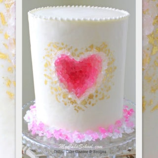 Beautiful Geode Heart Cake Tutorial by MyCakeSchool.com! Online Cake Tutorials, Videos, and Recipes!