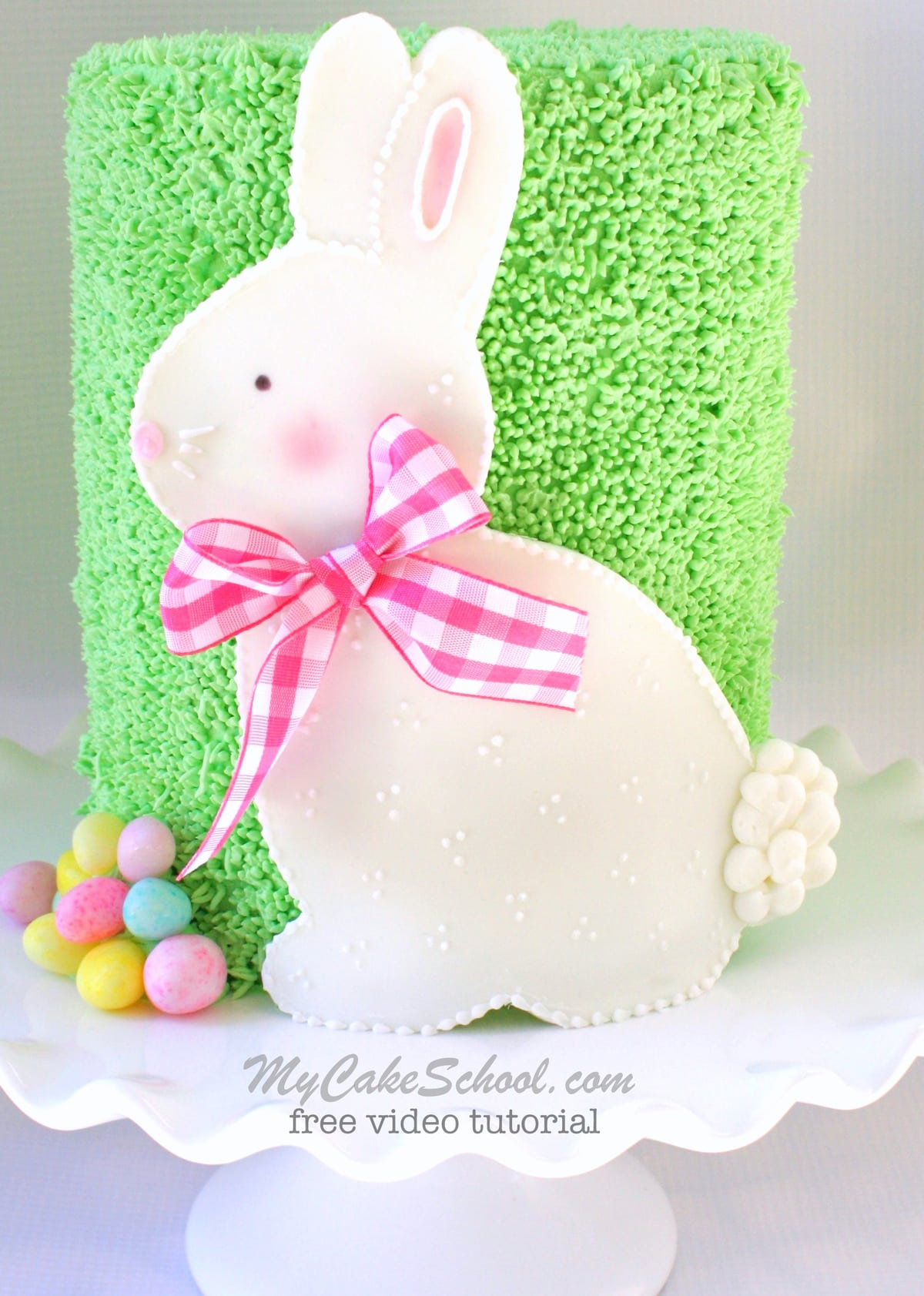 Roundup of Springtime and Easter Cakes! Sweet Bunny Cake Video by MyCakeSchool.com!