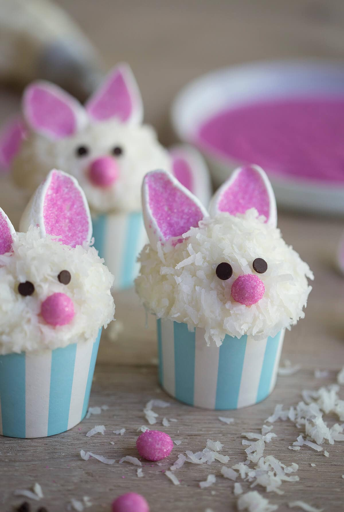 Easter and Spring Roundup of Cakes, Tutorials, and Ideas! Bunny cupcakes from The Preppy Kitchen!