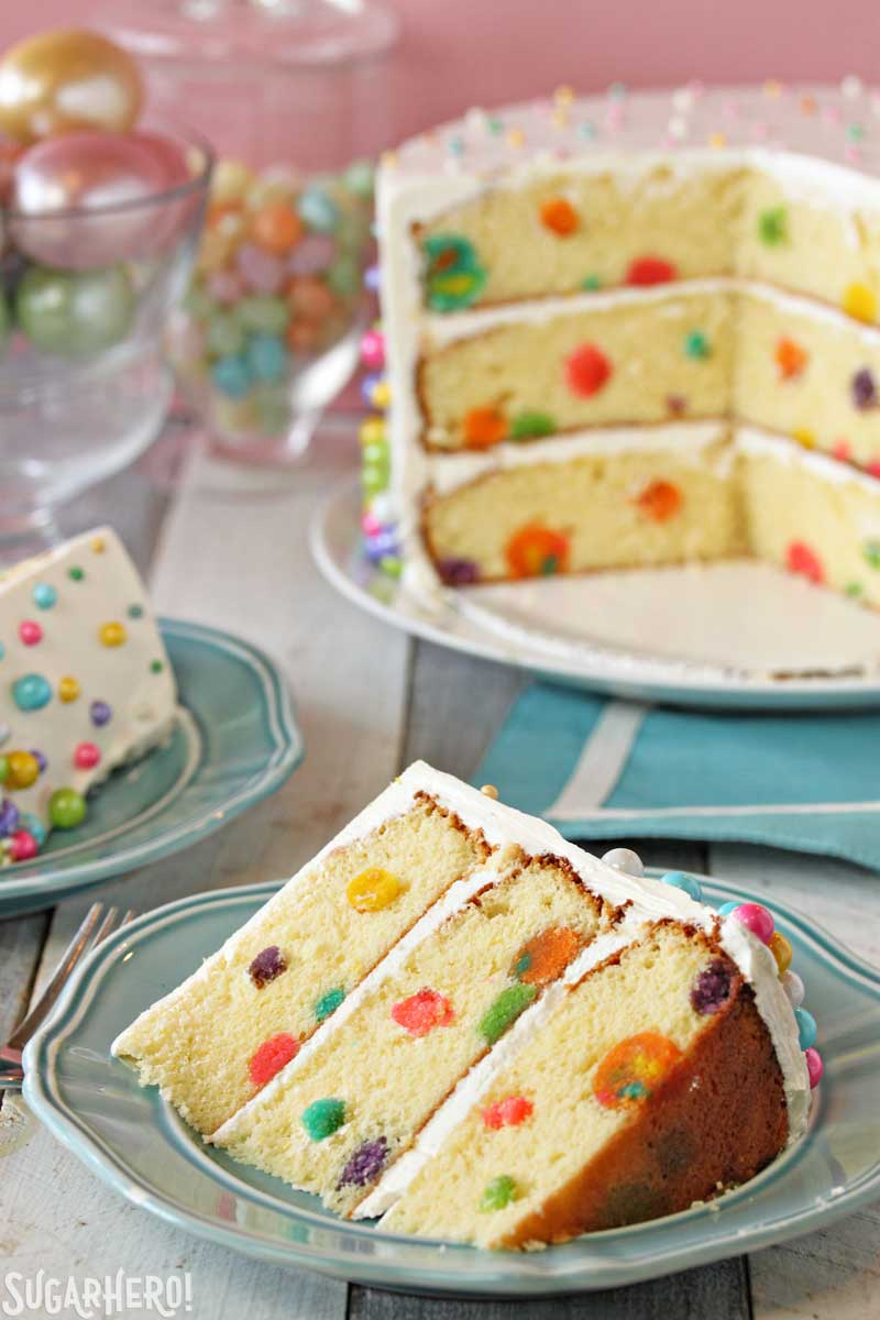 Easter and Spring Cake Roundup by MyCakeSchool.com! Adorable Polka Dot cake by SugarHero!