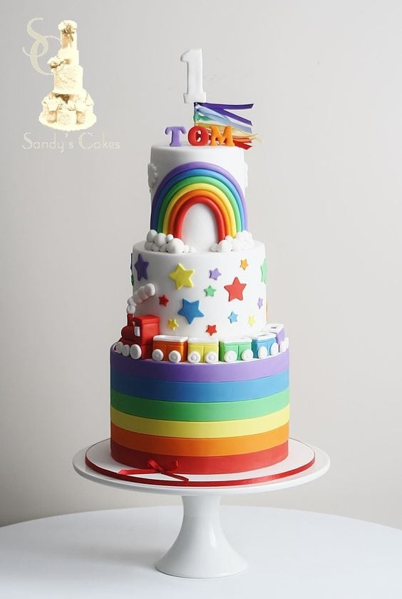 Roundup of the best rainbow cake ideas! Featured on MyCakeSchool.com.