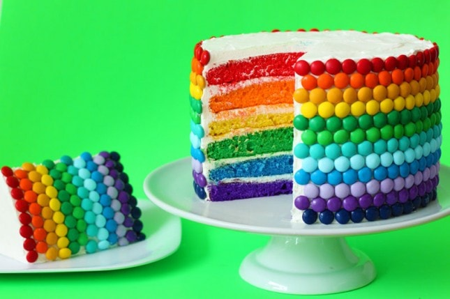Rainbow Cake Roundup of Tutorials and Ideas by My Cake School! Perfect for St. Patrick's Day!