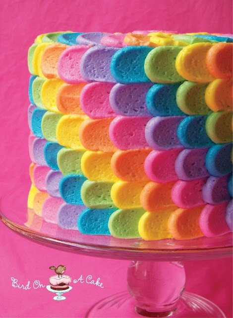 Rainbow Cake Roundup of cute ideas! MyCakeSchool.com.