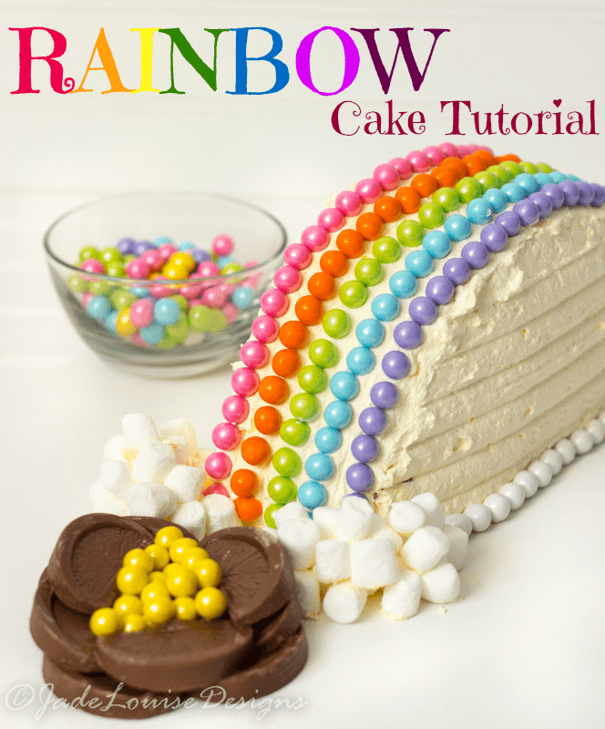 Rainbow Cake from MyCakeSchool.com's Rainbow Cake Roundup of Ideas!