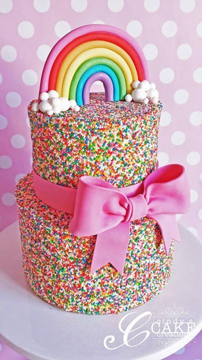 Roundup of the BEST Rainbow Cakes and Ideas! MyCakeSchool.com.