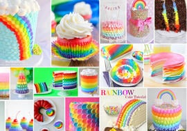 Rainbow Cake and Cupcake Roundup of Tutorials, Recipes, and Ideas! {As featured on MyCakeSchool.com}