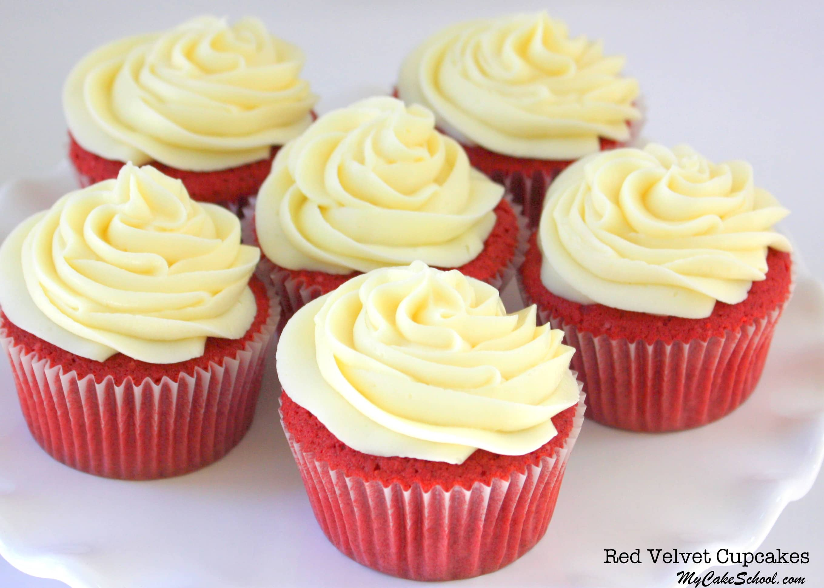 The BEST Red Velvet Cupcakes Recipe by MyCakeSchool.com! Fantastic scratch recipe!