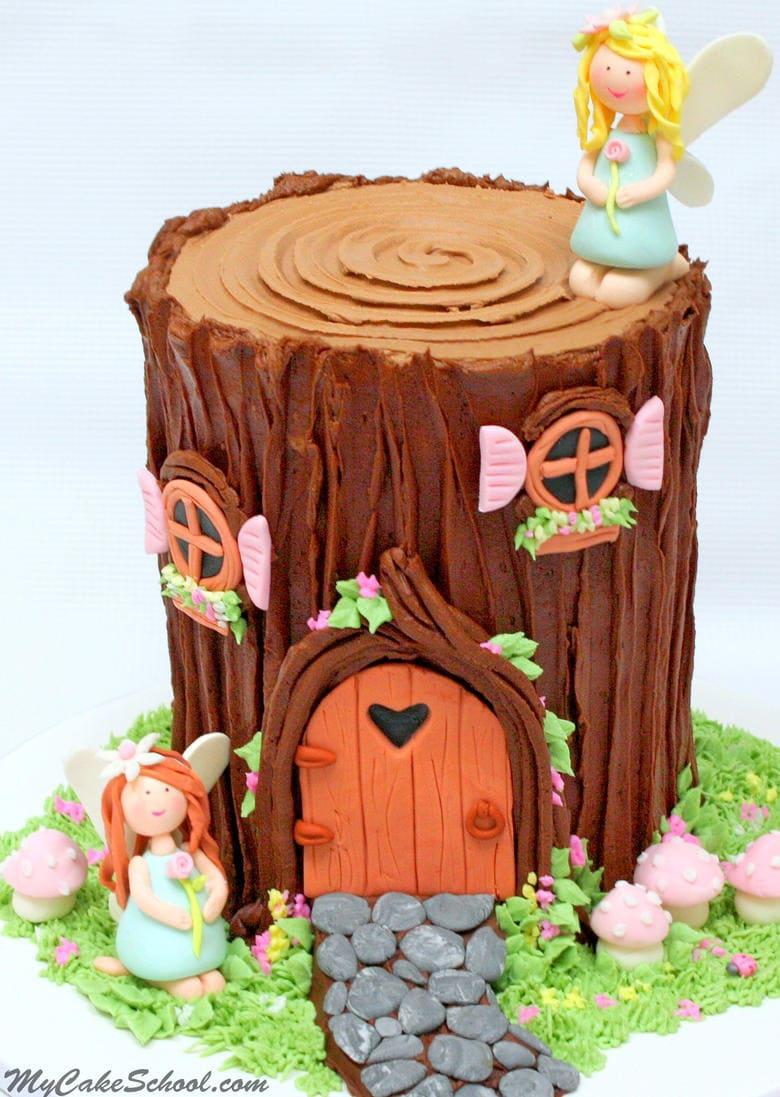 Tree stump fairy house - Tree Stump Fairy House 26