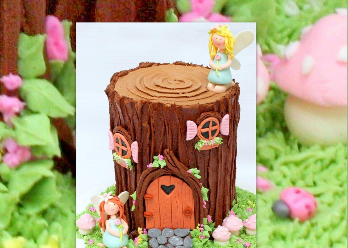 Fairy House Tree Stump Cake Video My Cake School