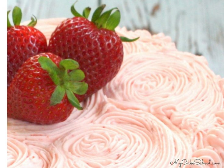 Delicious Strawberry Buttercream Frosting Recipe by MyCakeSchool.com