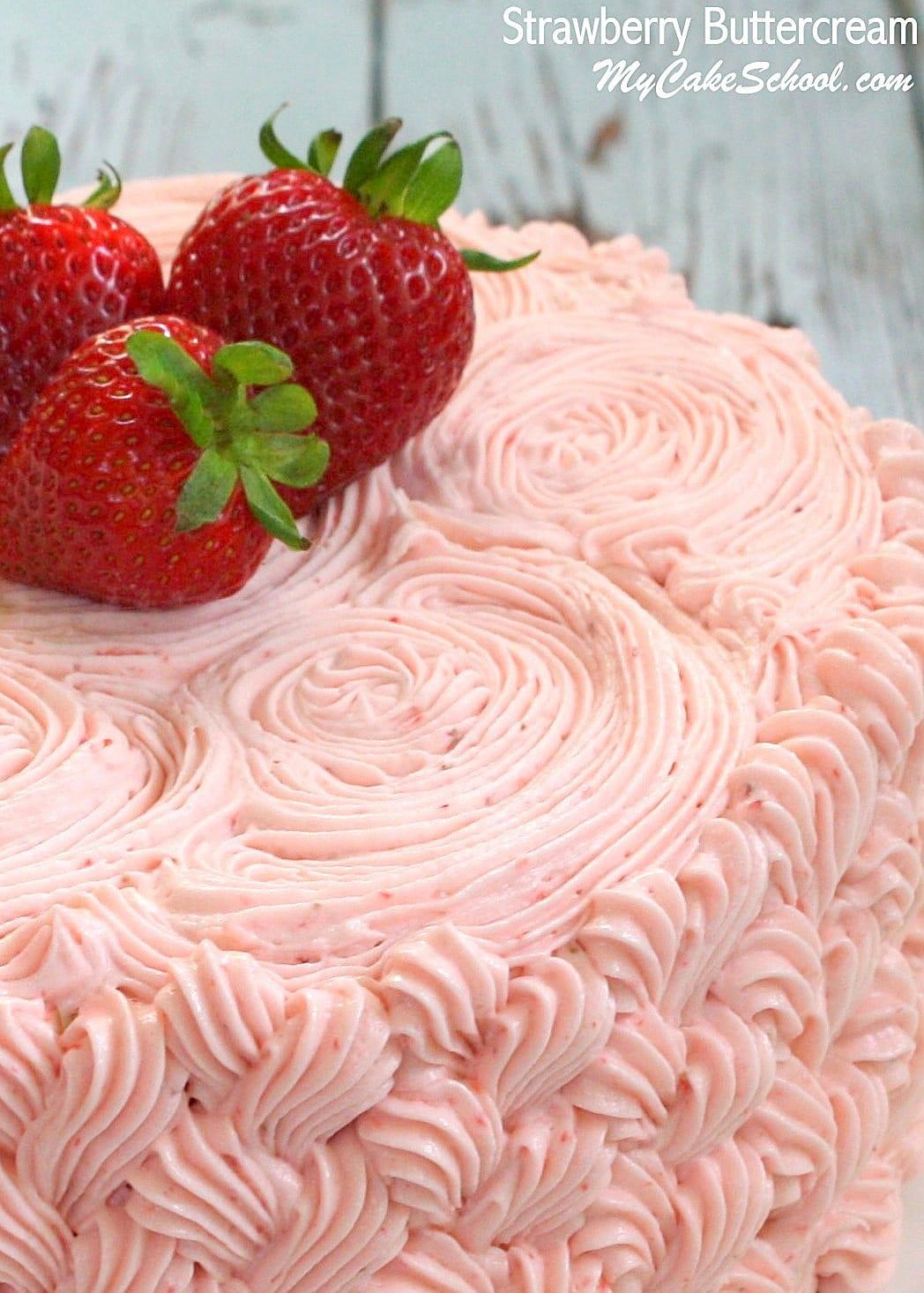 Strawberry Buttercream Frosting | My Cake School