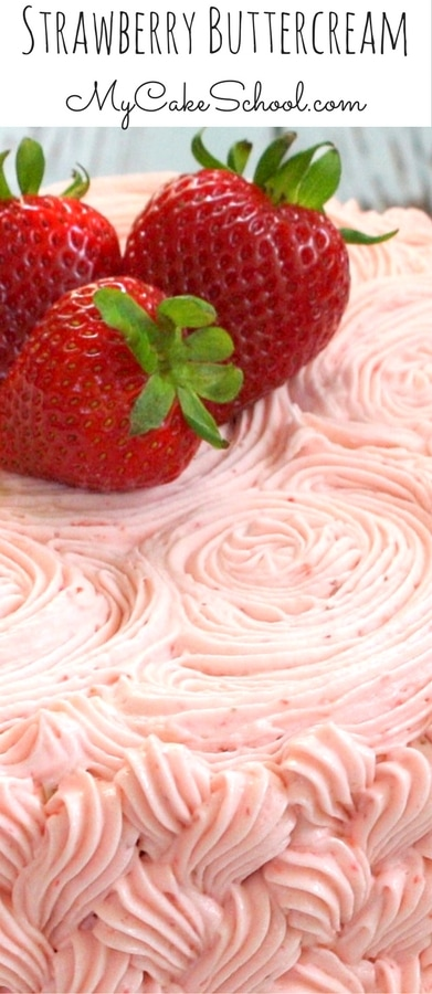 The BEST Strawberry Buttercream Frosting Recipe by MyCakeSchool.com!