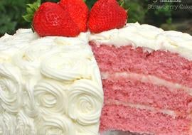 Amazing homemade Strawberry Cake Recipe by MyCakeSchool.com! Wonderful strawberry flavor and ultra moist! Recipe by MyCakeSchool.com!