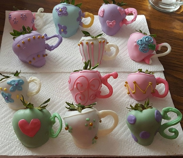CUTE Chocolate Covered Strawberry Teapot Treats by Crafty Morning as featured on MyCakeSchool.com's Mother's Day Roundup!