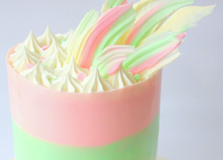 Chocolate Wrap with Brushstroke Shards! Cake video tutorial by MyCakeSchool.com