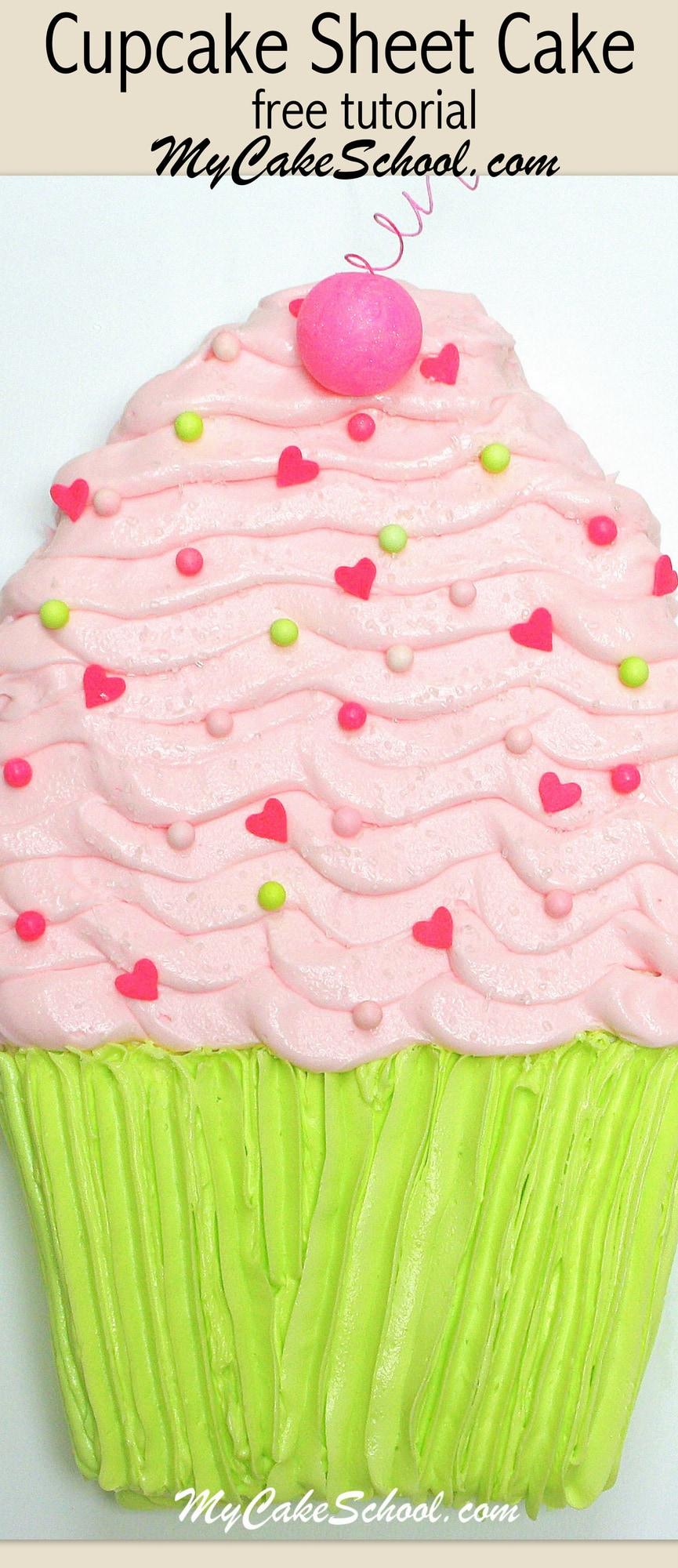 Cupcake Decorating Ideas Blog : Cupcake Sheet Cake Tutorial My Cake School