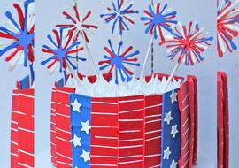 July 4th Cake with Chocolate Panels and FIreworks! Free Cake Video!