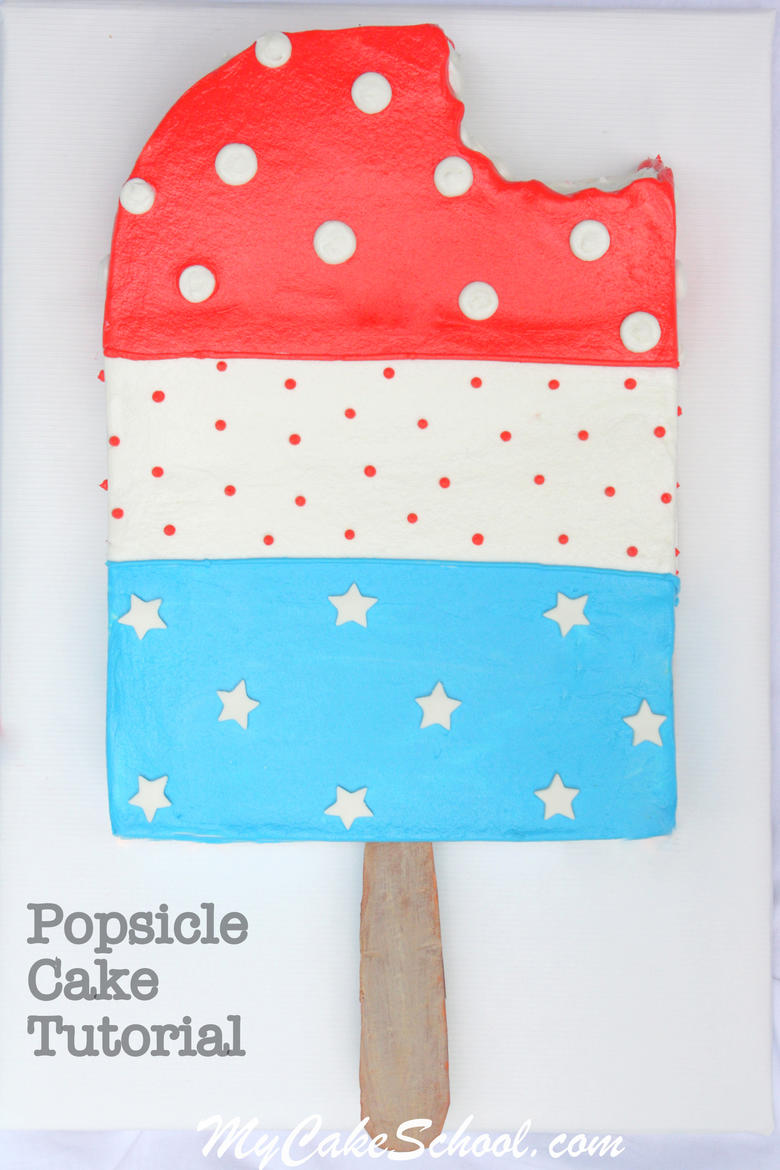 Easy Popsicle Cake Tutorial by MyCakeSchool.com! The perfect summer cake!