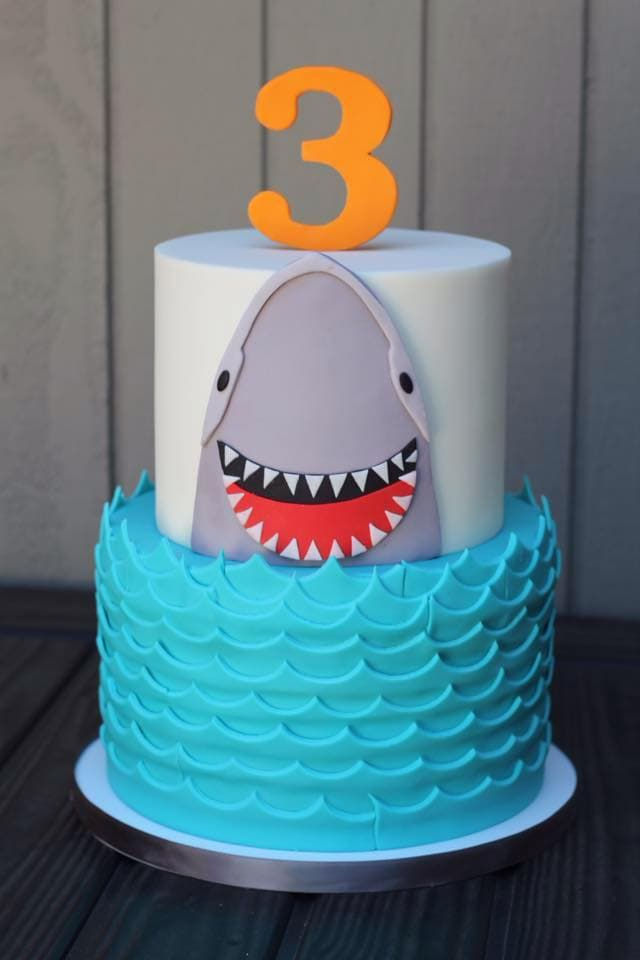 CUTE Shark Cake (Charity Fent Cake Design) as Featured on MyCakeSchool.com's Summer Cake Roundup!