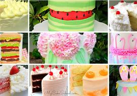 Summer Cake Recipes, Tutorials, and Design Ideas