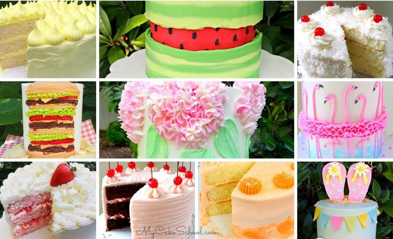 Summer Cake Recipes, Tutorials, and Design Ideas
