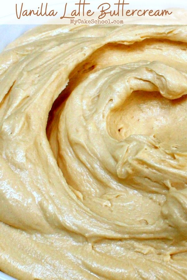Delicious Vanilla Latte Buttercream Frosting- This recipe tastes amazing and is so easy to make!