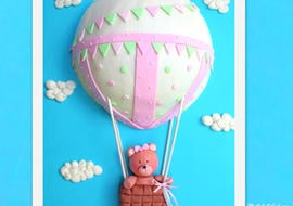 Adorable Hot Air Balloon Cake Video Tutorial by MyCakeSchool.com!