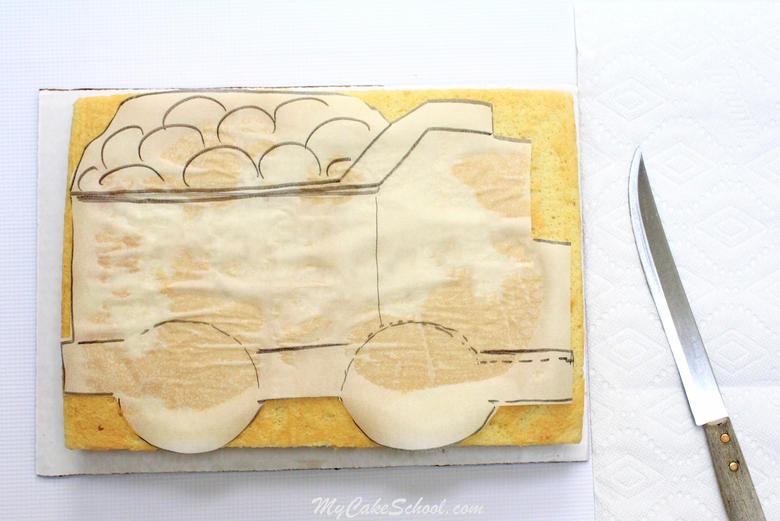 Dump Truck Sheet Cake Tutorial by MyCakeSchool.com!