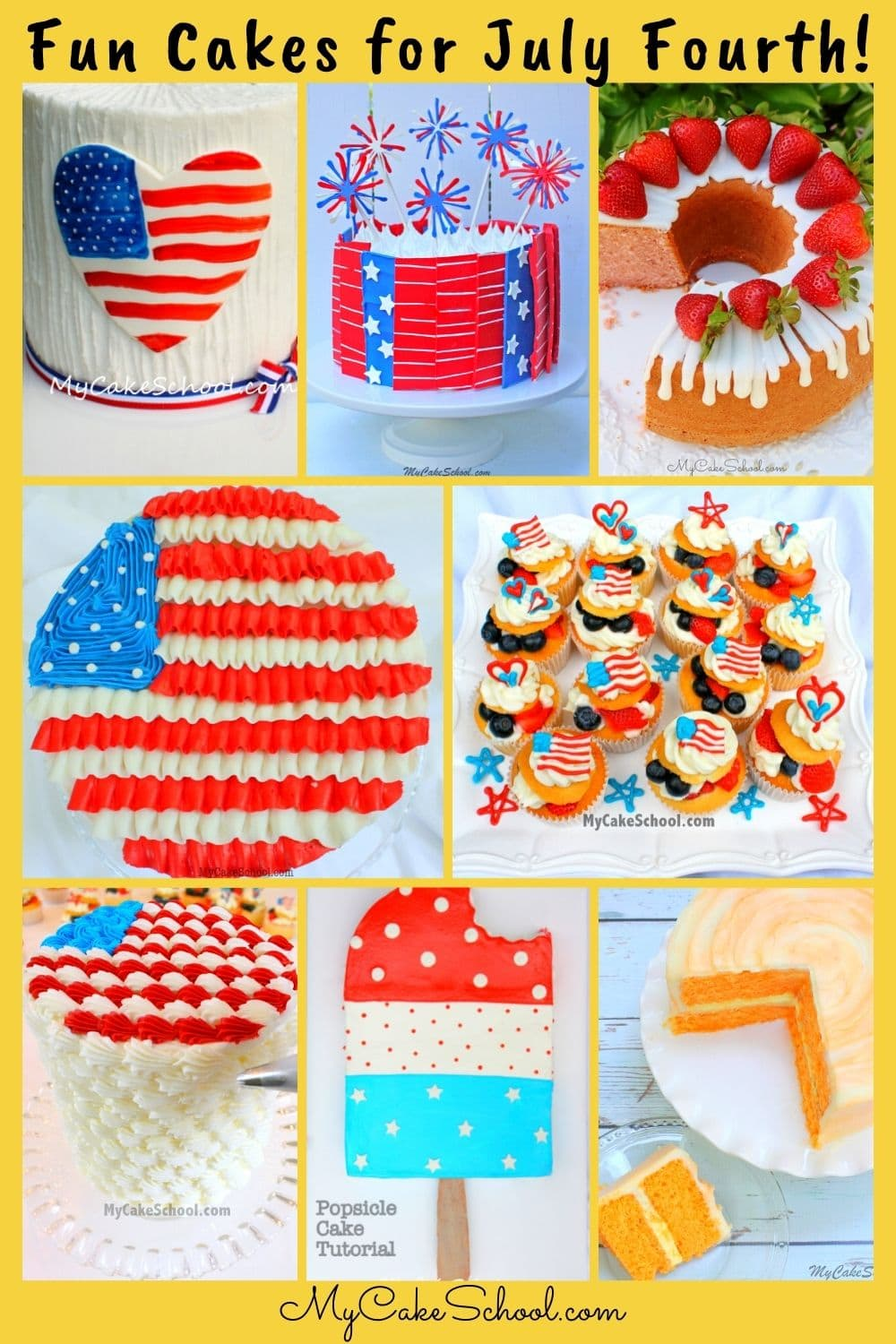 Fun Cakes for July Fourth