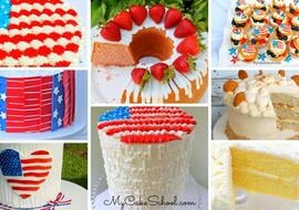 Fun and festive July Fourth Cake Designs and Recipes!