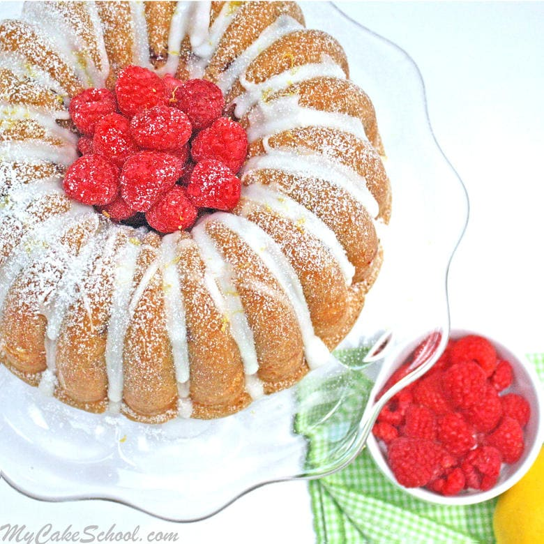 LOVE everything about this Lemon Raspberry Swirl Pound Cake! So moist and perfect for summer gatherings!