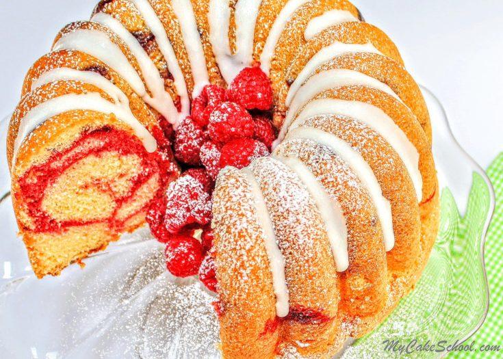 Lemon Raspberry Swirl Pound Cake