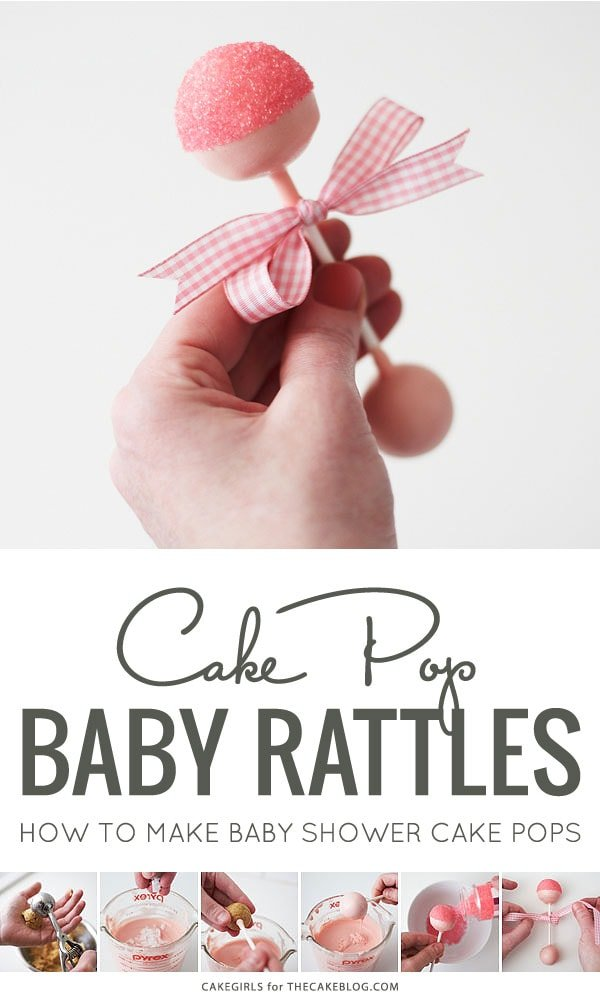 Baby Rattle Cake Pop Tutorial (via The Cake Blog) as featured on MyCakeSchool.com's Baby Shower Cake Roundup!