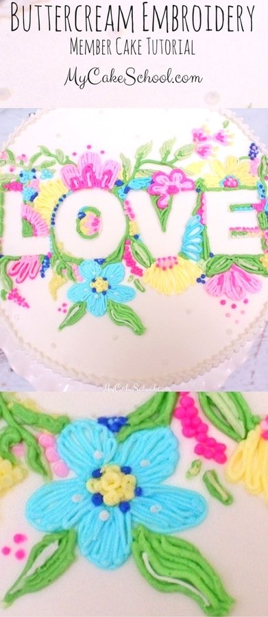 Buttercream Embroidery Cake-Video Tutorial | My Cake School