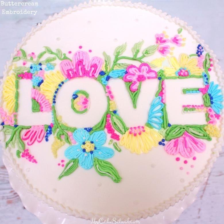 Embroidery cake tutorial makaroka