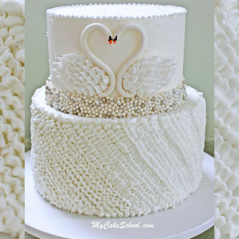 Elegant Swan Cake Video Tutorial by MyCakeSchool.com (member section). This would be perfect for wedding cakes, anniversary cakes, Valentine's Day cakes, and more!