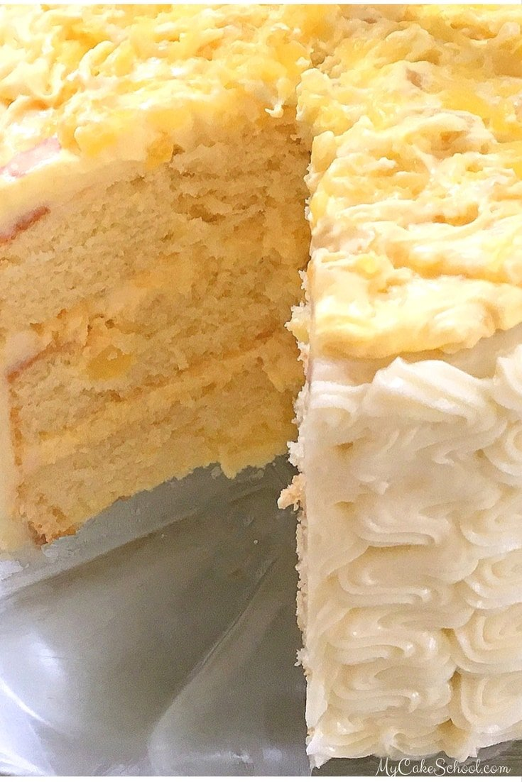 Delicious Pineapple Cake Recipe by MyCakeSchool.com! Perfect for summer entertaining!