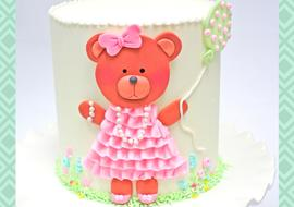 Sweet Teddy Bear Cake-Free Video Tutorial by MyCakeSchool.com.