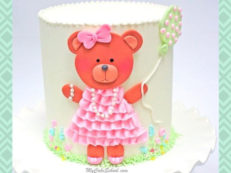 Sweet Teddy Bear Cake- Free Video Tutorial