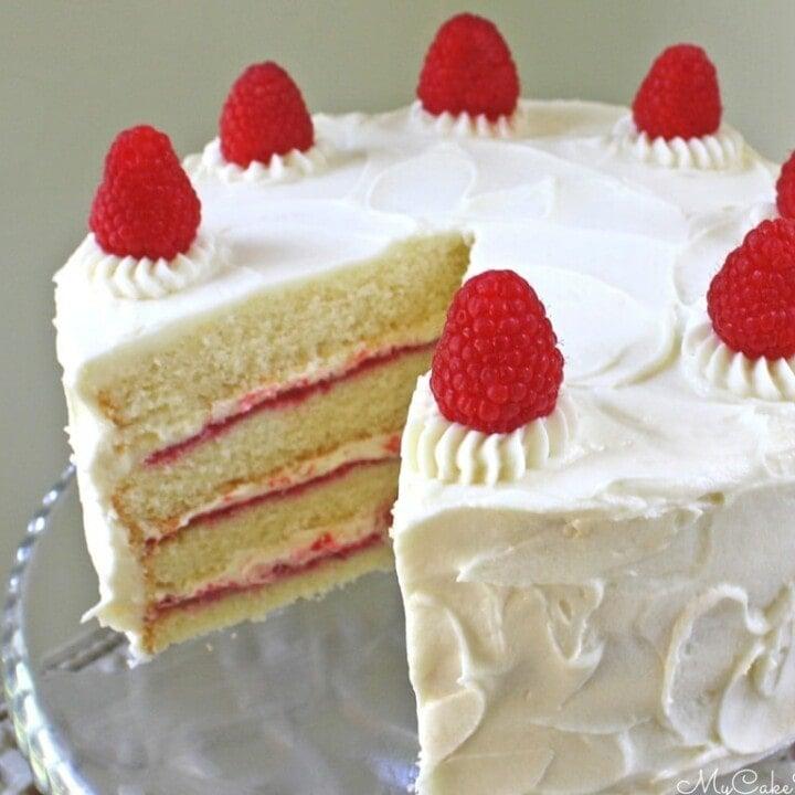Sensational White Chocolate Raspberry Cake From Scratch My Cake School Personalised Birthday Cards Arneslily Jamesorg