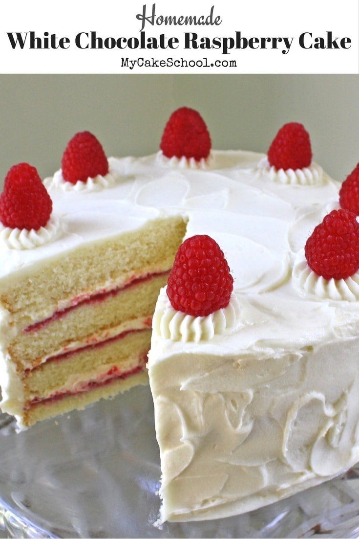 Homemade White Chocolate Raspberry Cake Recipe! Ultra moist and delicious!