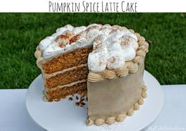 This Pumpkin Spice Latte cake is the BEST! Such a flavorful blend of pumpkin, spices, and espresso.