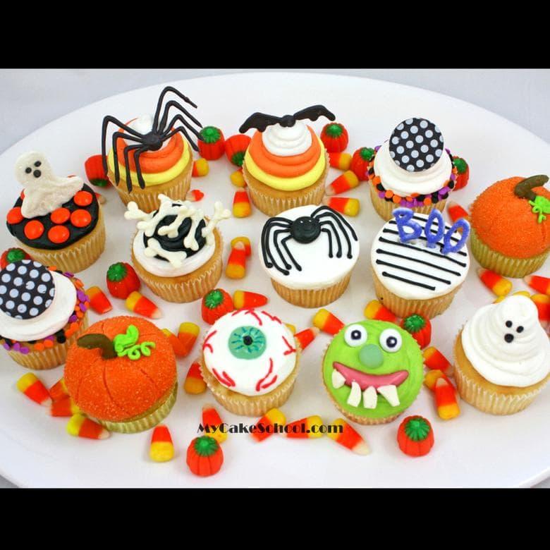 Easy and fun Halloween Cupcake Tutorial by MyCakeSchool.com!